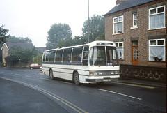 Maun International TPD30S Ripley 1987 (Guy Arab UF) Tags: maun international tpd30s aec reliance 6u2r duple dominant bus ripley cromford road derbyshire buses