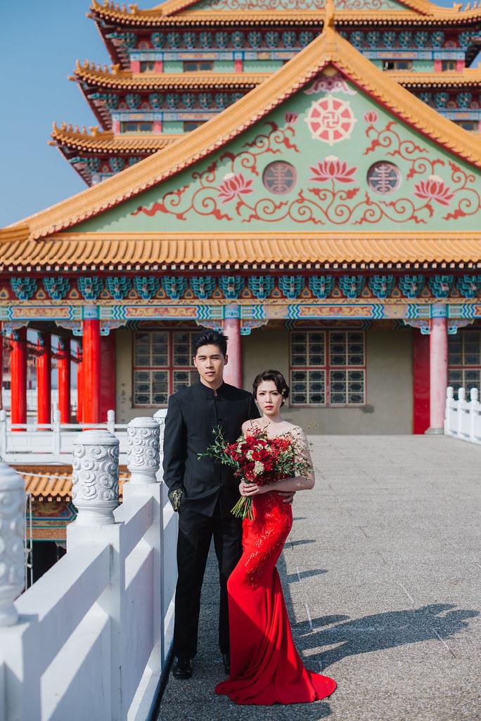 [自助婚紗] 家立&家伶|鹿耳門聖母廟|白鷺灣|老塘湖藝術村