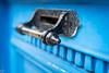 DSC00841 (mortelette.david) Tags: loxia250 zeiss planar sony sonya7ii sonyilce7m2 50mmf2 dof bokeh profondeurdechamp blur flou door porte mailbox iron ironworks métal extérieur bleu blue wood bois