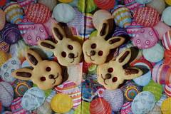 Osterreigen - Sweet Easter (Sockenhummel) Tags: kekse cookies osterhasen häschen easter ostern bunnies osterkekse sweets eier bunt fuji x30 süsigkeit colourful