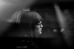 Passing (Terry Moran aka Tezzer57) Tags: london girl applestore candid travel blackwhite uk urban
