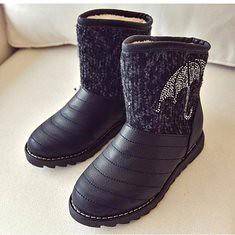 Winter Women Fur Lining Cotton Snow Boots Keep Warm Slip On Plush Flat Shoes (1107133) #Banggood (SuperDeals.BG) Tags: superdeals banggood bags shoes winter women fur lining cotton snow boots keep warm slip on plush flat 1107133