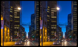 Blue Hour in Toronto 3-D / CrossEye / Stereoscopy / HDR / Raw