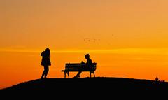 belgrade sunset (poludziber1) Tags: street streetphotography skyline summer sky sunset serbia srbija city colorful cityscape color capital clouds people silhouette belgrado beograd belgrade orange travel bench urban