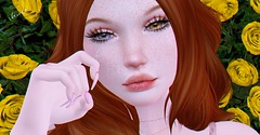 Spring tears... (rhavena.rasmuson) Tags: freckles red tears spring secondlife cry music