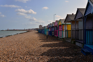 Western Esplanade Beach huts looking towards Herne Bay Pier  -  (Selected by GETTY IMAGES)