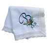 Audrey Hankie with Rosebud Monogram (initial_impressions) Tags: embroidered personalized audreyhankiewithrosebudmonogram bride brideshankie