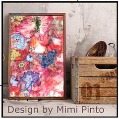 Wall art by MimiPinto (MimiPintoArt) Tags: wall art diy artist eco canvas watercolour interior styling design ideas gift idea