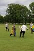 Historia Normannis Meadows June 2018-774 (Philip Gillespie) Tags: historia normannis central scotland sparring fighting shields swords axes spears park grass canon 5dsr men man women woman kids boys girls arms feet hands faces heads legs shins running outdoor tabards chain mail chainmail helmets hats glasses sun clouds sky teams solo dead act acting colour color blue green red yellow orange white black hair practice open tutorial defending attacking volunteer amateur kneeling fallen down jumping pretty athletic activity hit punch