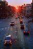 Seeing Red In Wicker Park.jpg (Milosh Kosanovich) Tags: chicagohenge chicagophotographicart precisiondigitalphotography sunrise cinestillc41kitblixseparated chicagophotoart nikonf100 chicago miloshkosanovich northavenue cinestill800t mickchgo chicagophotographicartscom wickerpark equinox