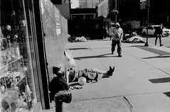 Nap before the Halloween Parade (Loodoveeca) Tags: nyc newyorkcity manhattan bigapple sunny halloween costume trickortreat nap rest streetphotography street ontheroad sleeping sidewalk film filmisnotdead filmisalive filmphotography thefilmcommunity 35mmfilm ishootfilm blackandwhitefilmphotography 35mm blackandwhite bw analog analogphotography analogicphotography analogic analogica ilfordhp5 olympus olympuscamera olympusom1