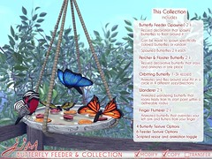 JIAN Butterfly Collection ( FaMESHed April ) ([JIAN]) Tags: secondlife mesh animals insects butterflies butterfly animated jian