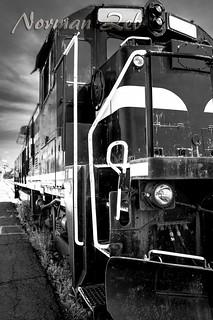 An abandoned train