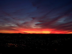 Ever-Changing Colors (R. Kurosawa) Tags: sunset hill evening sky clouds orange red