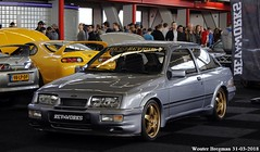Ford Sierra RS Cosworth 1986 (XBXG) Tags: lxvs24 ford sierra rs cosworth 1986 fordsierra international amsterdam motor show 2018 iams2018 autorai2018 iams rai autoshow carshow nederland holland netherlands paysbas youngtimer old classic german car auto automobile voiture ancienne allemande deutsch vehicle indoor