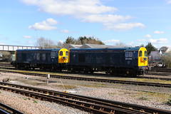20189 & 20205 Eastleigh 05/04/18 (Woolwinder) Tags: ukclass20 20189 20205 drs esatleigh hampshire england lswr southernrailway gbrailfreight