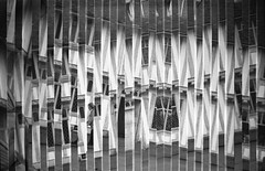 (von8itchfisk) Tags: incamera incameraeffect idevelopfilm ishootfilm selfdeveloped blackandwhite monochrome stripes lines architecture geometric doubleexposure lavenham kodak boxbrownie mediumformat 120film suffolk eastanglia filmisnotdead film