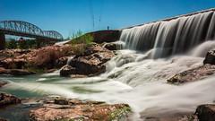 Lano-River-Lake-Spillway-3 (Joey Burns) Tags: llano river spillway lake waterfall bridge truss trussbridge rocks downtown sky