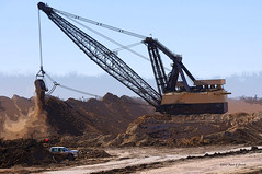 Texas coal strip mining (Frank G Cornish) Tags: coalmine stripmining bigbucket cambelltontx industr energy