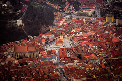 The Heart of Everything (WT_fan06) Tags: city centre panorama panoramic brasov romania rumanien nikon d3400 dslr photography art artsy aesthetic artistic old architecture busy crowded medieval spring april contrast red orange aperture saturated colour color colors vibe vibrant world urban light pedestrian church central square miniature