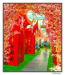 chinese new year decoration (harrypwt) Tags: harrypwt samsungs7 s7 indonesia java city shoppingmall red chinese