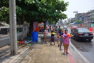 songkran on our main road