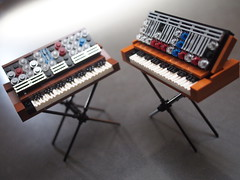 Minimoog Model D and Voyager (grobiebrix) Tags: lego afol moc moog synthesizer synthesizers analog analogue synthesis bobmoog minimoog modeld voyager