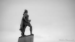 Leifur Eiríksson (Mikko Manner) Tags: nikond7200 tamron18400mmf3563diiivchld leifureiríksson reykjavik iceland statue sky bw blackandwhite sight travel photography photo