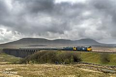 50049 and 50007 at Ribblehead on 14 Apr 18. (John_Hales) Tags: ribblehead arnside preston rail railway train trains settle carlisle class50 locomotive bleamoor networkrail cumbria yorkshire