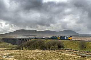 50049 and 50007 at Ribblehead on 14 Apr 18.