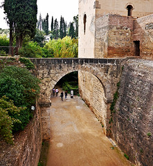 photo - Acequia Real and Moat, Alhambra (Jassy-50) Tags: photo alhambra granada spain acequiareal royalaqueduct aqueduct arch moat fromabridge unescoworldheritagesite unescoworldheritage unesco worldheritagesite worldheritage whs wall