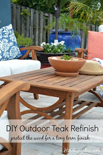 Outdoor DIY Inspiration : Save time and effort, easy tutorial to restore outdoor teak furniture with tips ...