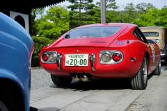 Toyota 2000GT, checkpoint line-up (Eric Flexyourhead) Tags: gion 祇園 higashiyama higashiyamaku 東山区 kyoto 京都市 kansai 関西地方 japan 日本 kenninji 建仁寺 temple rally vintagecarrally 2018 lafestaprimavera lafestaprimavera2018 checkpoint car sportscar gt japanese toyota 2000gt toyota2000gt red sonyalphaa7 zeisssonnartfe55mmf18za zeiss 55mmf18