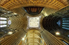Central Tower (sfryers) Tags: yorkminster stpeters cathedral historic gothic archirecture arches ceiling tower york yorkshire falcon samyang 8mm 135 fisheye