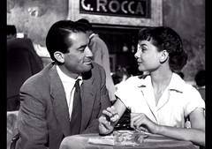 Gregory Peck, Audrey Hepburn, at Cafe Rocca, Roman Holiday, 1953 (classic_film) Tags: romanholiday film movie cine cinema 1953 fifties 1950s italy actress actor hollywood vintage classic fashion beauty beautiful audreyhepburn gregorypeck romance mujerbonita mujer frau brunette hair hairstyle style elegant retro época ephemeral entertainment prettygirl pretty añejo clásico history italian menswear suit tie shirt woman city historical rome europe niñabonita sexy sensuous película aktor akteur acteur man celebrity actrice actriz schauspielerin aktrice schön lady jahrgang alt oll sign signage teken letrero schild