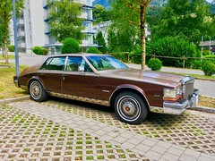 Cadillac Seville Second Generation (1980 - 1985) (UweBKK (α 77 on )) Tags: cadillac seville second generation car auto automobile classic vintage sedan limousine brown bavaria bayern germany deutschland europe europa iphone