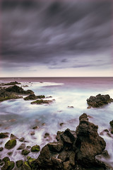 Rough weather (Rico the noob) Tags: 2018 rock d850 landscape nature water outdoor stones clouds longexposure beach ocean 20mm travel tenerife dof sea sky rocks teneriffa coast published 20mmf18
