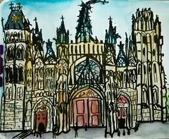 La cathédrale de Rouen. (cecile_halbert) Tags: cathedral cathédrale rouen crobard croquis esquisse dessin encre aquarelle ink watercolor urban usk uskfrance urbansketching urbansketchers urbansketch sketch sketchbook architectural