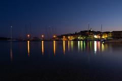 Primosten port, Croatia_2 (bakosgabor57) Tags: sea port dock evening lights boat sailboat nikon1755 sunset bluehour