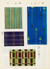 Vintage woodblock print of Japanese textile from Shima-Shima (1904) by Furuya Korin. Digitally enhanced from our own original edition. (Free Public Domain Illustrations by rawpixel) Tags: furuya korin otherkeywords tags antique asian background blue cc0 collection compilation decoration design fabric furuyakorin graphic green illustrated illustration japan japanese name old pattern plate print printed publicdomain set shimashima style textile textured various vintage wallpaper woodblockprint woodcut