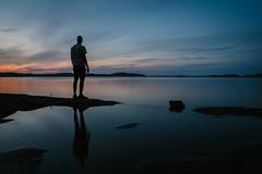 Korvensaari, Finland - Midnight (Regan Gilder) Tags: korvensaari finland midnight eu europe anttola canoeing lake water reflection nightsky dusk light sky reflect silhouette shadow canoneos5dmarkiii canon