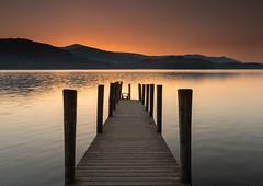derwent water (markmcneill22) Tags: lakedistrict derwentwater keswick lakes sunset cumbria nikon nature water sunsetphotography jetty