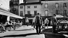 Market day (rvrossel) Tags: street streetphoto blackandwhite bw samyang12mm fujilove fujishooters fujifilm fuji markets people