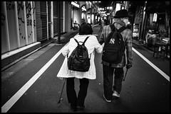Kami-Meguro, Meguro-ku, Tōkyō-to (GioMagPhotographer) Tags: tōkyōto peoplegroup old afterdark meguroku kamimeguro night streetscene japanproject japan leicamonochrom meguro tokyo tkyto