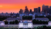 Greenwich and Canary Wharf at dusk (Jonathan Vowles) Tags: photomatix london greenwich queens canarywharf dusk hdr thames