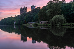Durham Cathedral Sunrise - HDR (Dean Conley) Tags: nikon nikond3400 d3400 1855mm durham cathedral durhamcathedral river trees reflection boathouse sky sunrise renovation hdr bracketed morning colour old northeastengland flickr nature beauty dslr riverwalk riverwear lightroomclassic historic historical tourism thisisengland kitlens photography countydurham