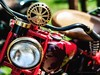 That Indian Motorcycle Again (RichardK2018) Tags: wideopen dof shallowdepthoffield horn brass red heageclassicbikeshow zuiko75mm olympusem1mk2 motorcycle indian