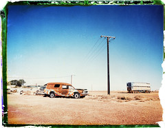 1610 (The Dent.) Tags: polaroid fp100c mamiya universal press cooberpedy south australia outback desert 75mm sekor p