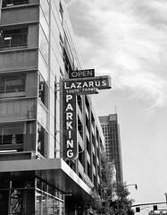 Lazarus Parking Garage - Columbus, Ohio (ryanungeronline) Tags: 120film 2017 fomapan200 ilfosol3 pentax67 bw bwnegative filmphotography lazarus