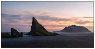 Drangarnir Sea Stacks Faroe Islands.